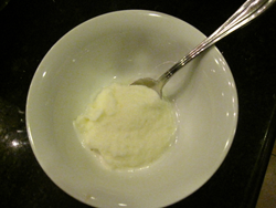 bowl of snow ice cream
