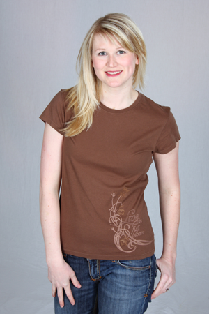 happy first brown cap sleeve tee