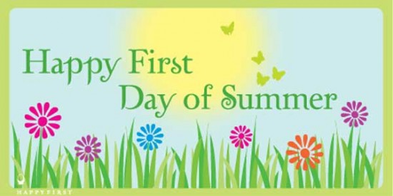 Happy Spring First Day of Summer Clip Art